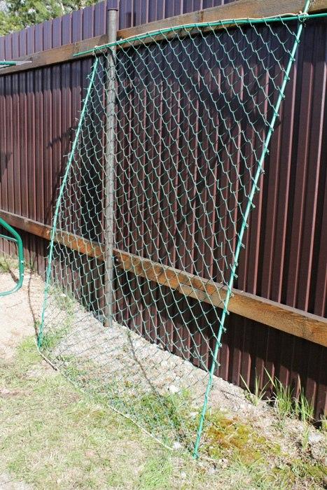 Вертикальная опора своими руками для клематиса из пластиковой сетки-рабицы