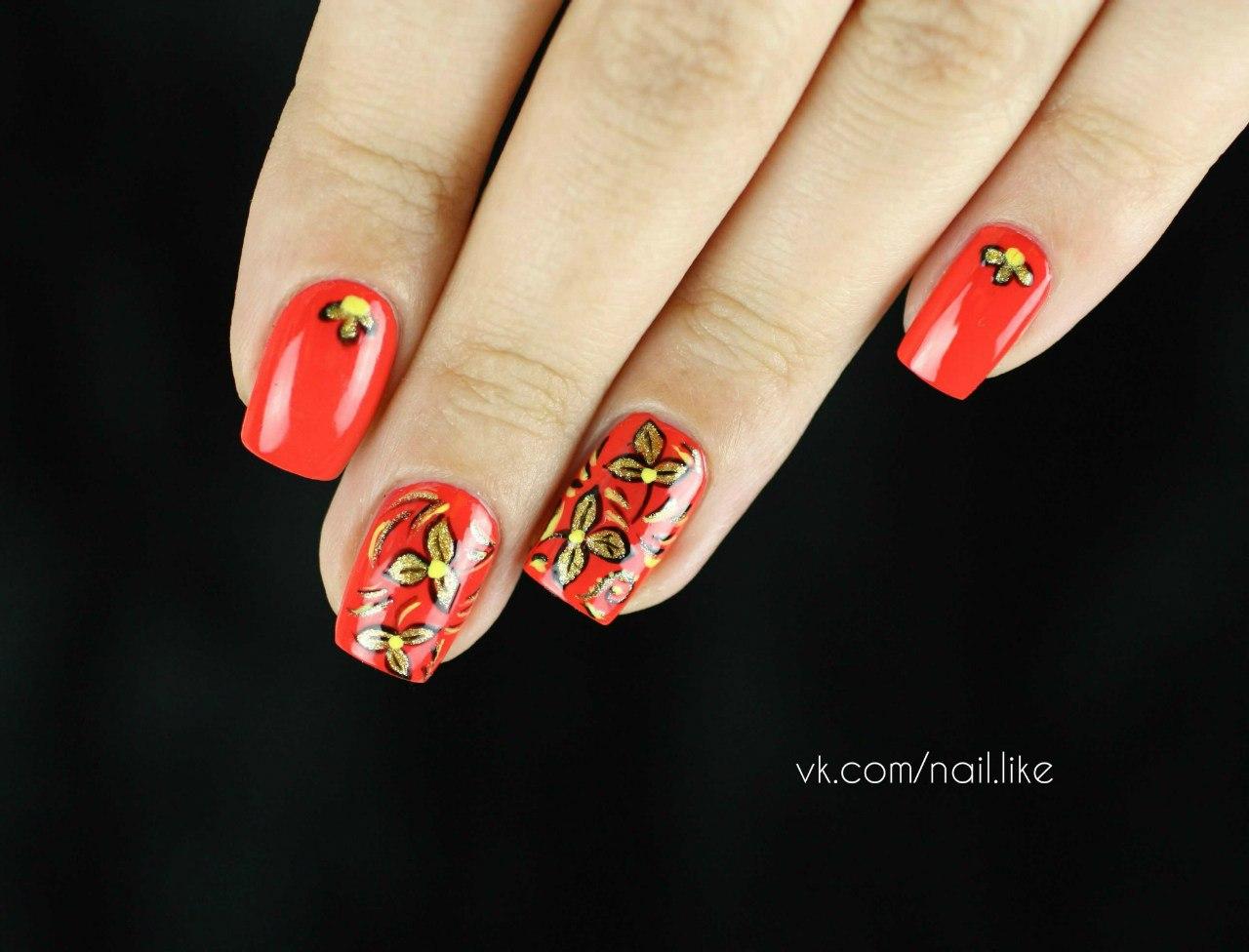 Фото хохлома ногти