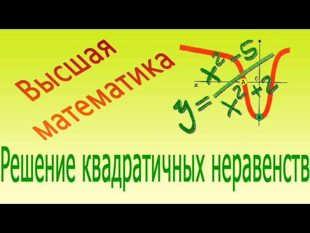 Решение квадратичных неравенств. Видеофильм