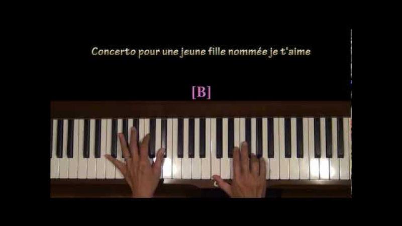 Concerto Pour Une Jeune Fille Nommee Je T'Aime Piano Tutorial SLOW