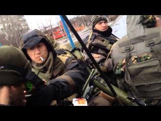 Российские наемники сняли видео перед отправкой в украинский Углегорск