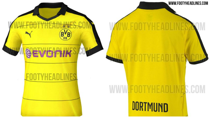 5d3e79bbaa09 Задняя сторона домашней формы целиком жёлтого цвета и не имеет никаких  черных деталей, кроме традиционной надписи Dortmund внизу.