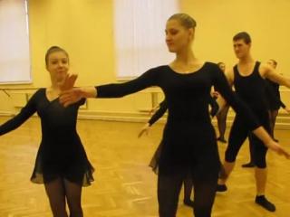 _ Полонез_.1 курс. Историко-бытовой танец - YouTube [360p]