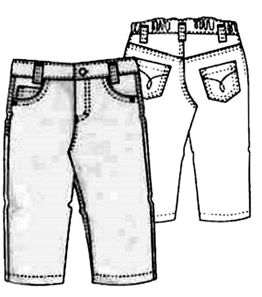 Выкройка для джинс на 2 года