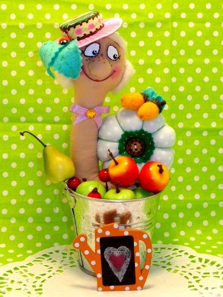 Интерьерная игрушка ,, Улиточка,, (4 фото) - картинка