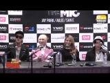 150319 Ailee, Jay Park, San E, Kang Min Hee (Miss $) @Unite The Mic Press Conference Toronto