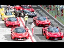 FERRARI CAVALCADE 2015 IN VALLELUNGA - All cars (13x LaFerrari, 488 GTB, 7x Speciale A, etc ... ) HQ