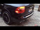 New Techart Exhaust on Akrams Porsche Cayenne Turbo! Start & Revving!