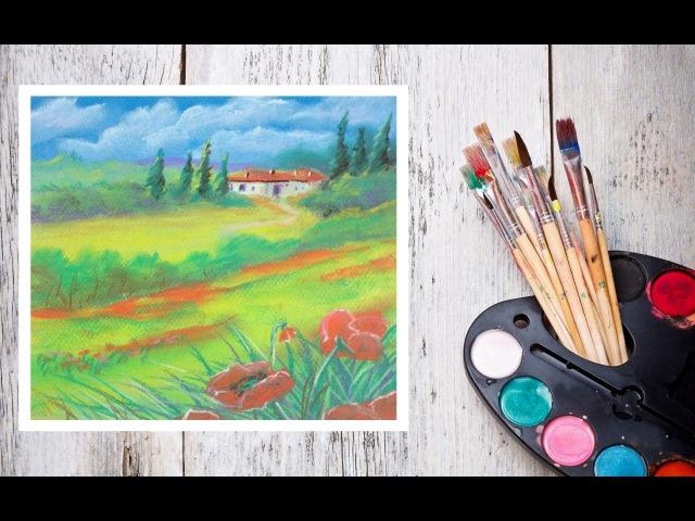 Видео урок Рисуем Пастелью Прованс Dari Art смотреть онлайн без регистрации