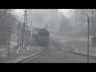15 марта 2014. Кондрашовка. Эшелон с Украинскими танками идет к границе