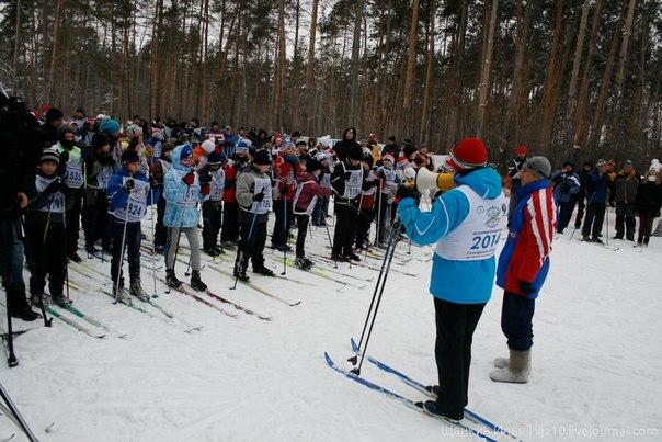 идет Популяризация лыжного