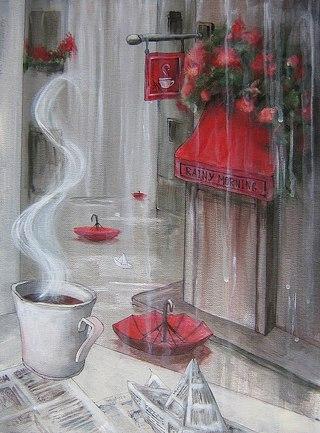 """очереди """"Дождливое утро""""."""