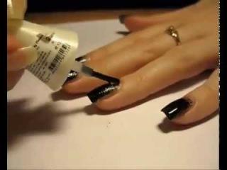 Маникюр с губкой эффект нарощенных ногтей