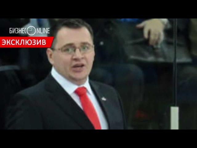 Андрей Назаров в перерыве матча «Барыс Авангард Омск» 18