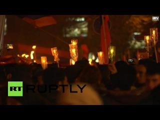 В Ереване прошло факельное шествие в память о жертвах геноцида армян в Османской империи
