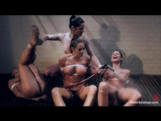 Bobbi Starr, Phoenix Marie, Lea Lexis & Chanel Preston (Lesdom Water Bondage) [BDSM, Bondage, Lesbian, Hardcore, Domination]