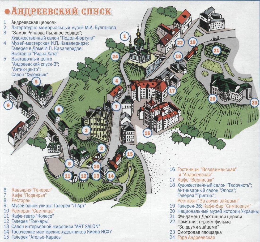 Андреевский спуск (карта)
