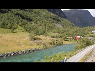 Норвегия из окна вагона