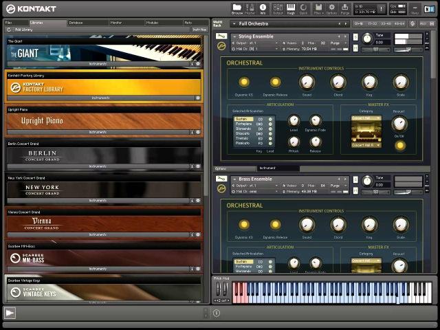 Orchestral Multi-Instrument Layering in Kontakt 5