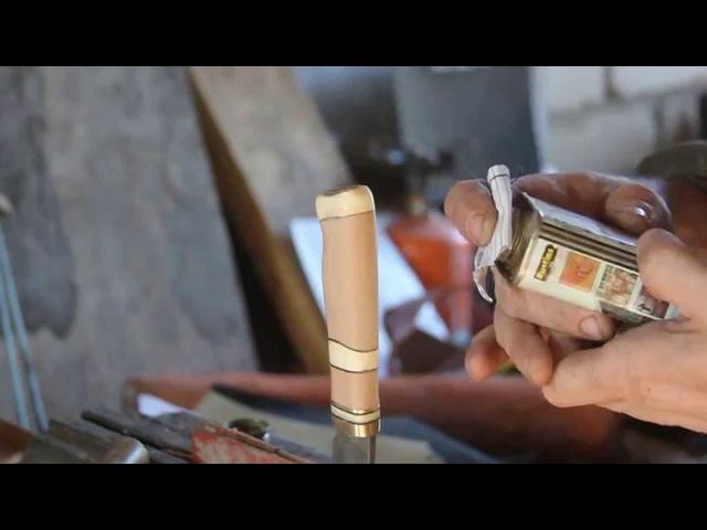 Изготовление наборной рукояти для ножа
