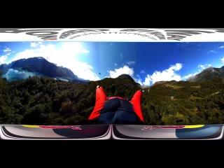 WOOW! Вингсьют панорамное видео 360 градусов, Wingsuit