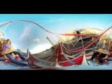 WOOW!!! Панорамное видео 360 градусов! Американские горки!