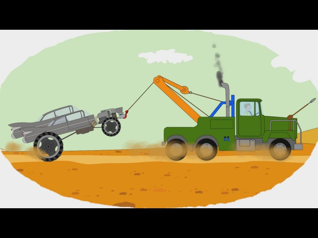 Мультик Раскраска Учим Цвета Грузовые Монстр траки Monster trucks Мультфильмы про машинки
