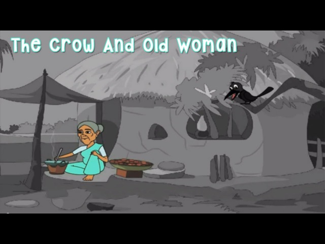 The Crow And Old Woman | Classic Short Stories for Kids | Rhymes4Kids