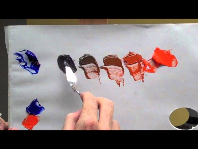 Colour wheel complementary colours: Blue orange complementary colour mixing