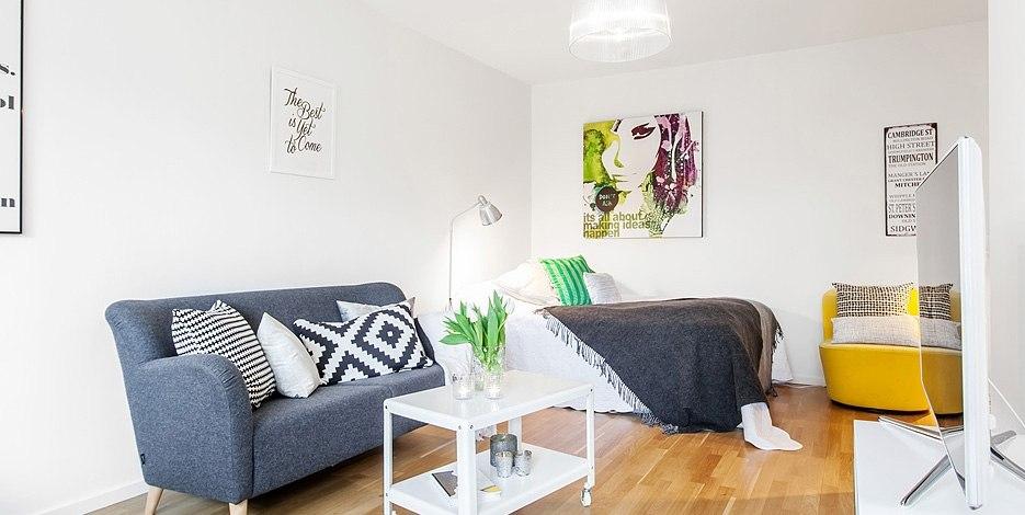 Интерьер квартиры-студии 28 м.