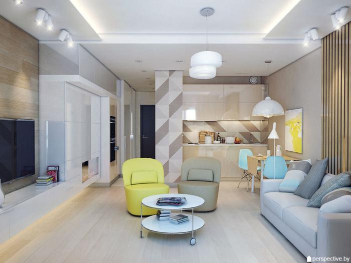 Проект квартиры 33,8 м.