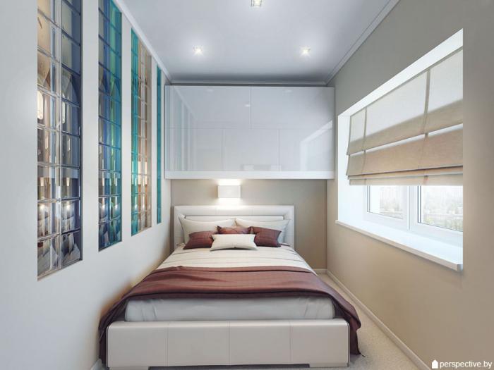 Отделяем спальню в квадратной студии.