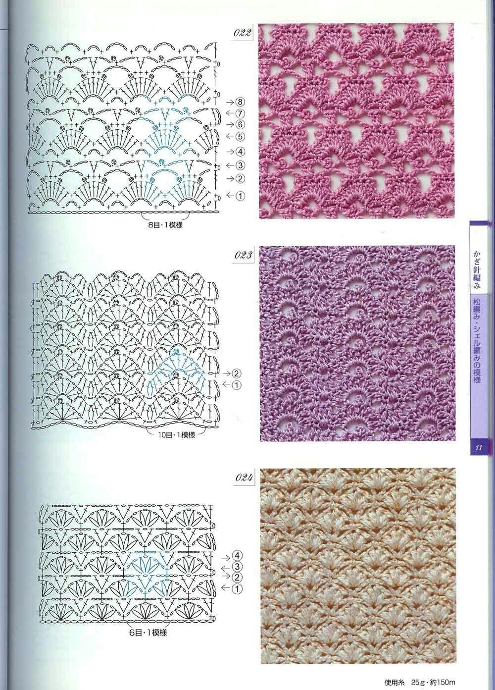 Схемы рисунков для вязания крючком фото
