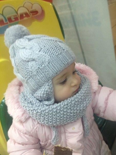 Вязание на спицах для малышей шапка и снуд