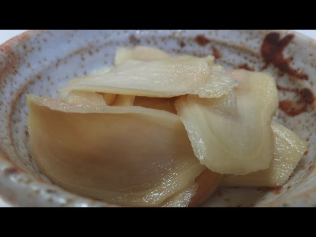 Как замариновать имбирь к суши рецепт Japanese food How to Pickled Ginger