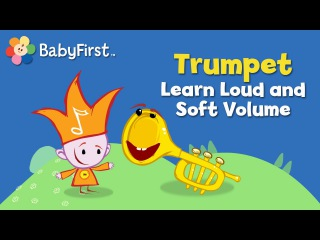BabyFirstTV: Notekins Trumpet Learn Loud and Soft Volume | Learning Sounds of Musical Instruments