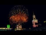 Лучшие моменты праздничных салютов в день 70-летия Победы в городах России