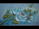Como Pintar Rosas Brancas / Pintura em Tecido