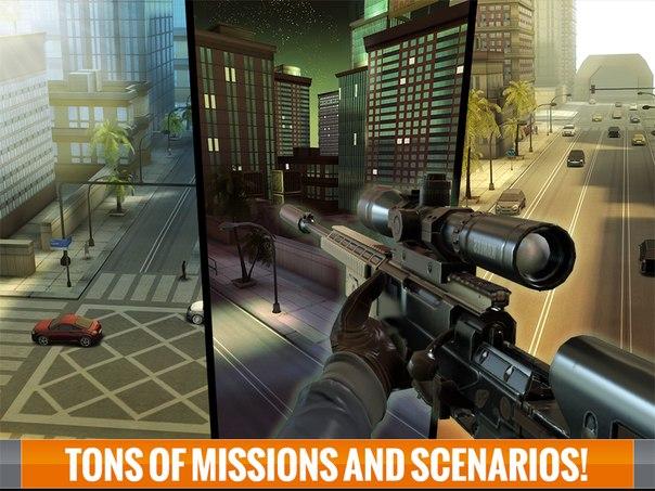 Скачать Андроид игру Sniper 3D Assassin: Shoot To Kill Взлом для Телефона и