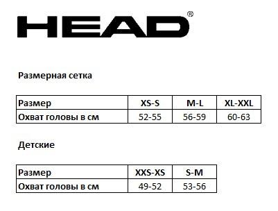 Картинки по запросу head размерная шкала шлем