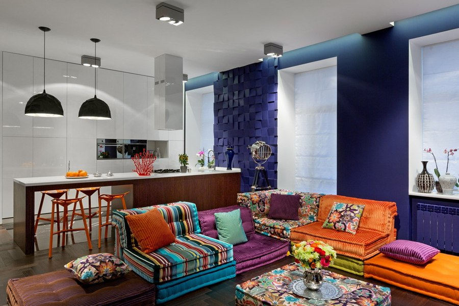 Украинский дизайнер Сергей Махно назвал свой проект «Открытая книга»: квартира-студия 50 м в Киеве.