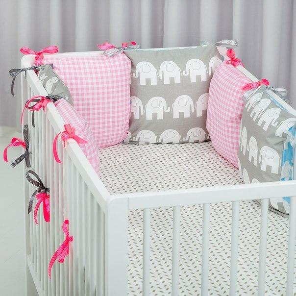 Бампер в кроватку для новорожденных своими руками выкройки