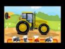 Мойка и ремонт зелёного трактора - мультик про трактор для детей