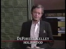 DeForest Kelley tours Star Trek TNG sets September 27, 1990