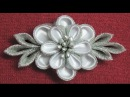 DIY kanzashi flower hairclip,Winter inspired kanzashi,Wedding accessoire