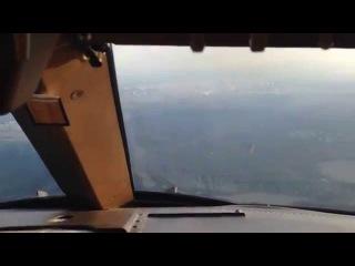 Заход на посадку в аэропорту Внуково Москва Боинг 747-400