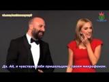 Халит Эргенч и Мерьем Узерли на церемонии вручения премии Человек года GQ 2014
