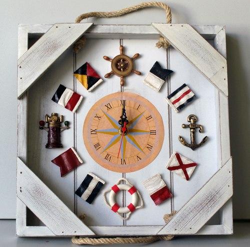 Морские часы настенные своими руками 83