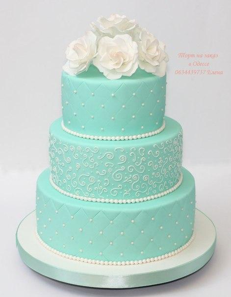 Торт мятного цвета свадебный