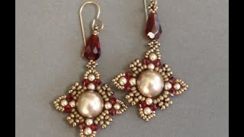 Sidonia's handmade jewelry - Oriental earrings - Beading tutorial